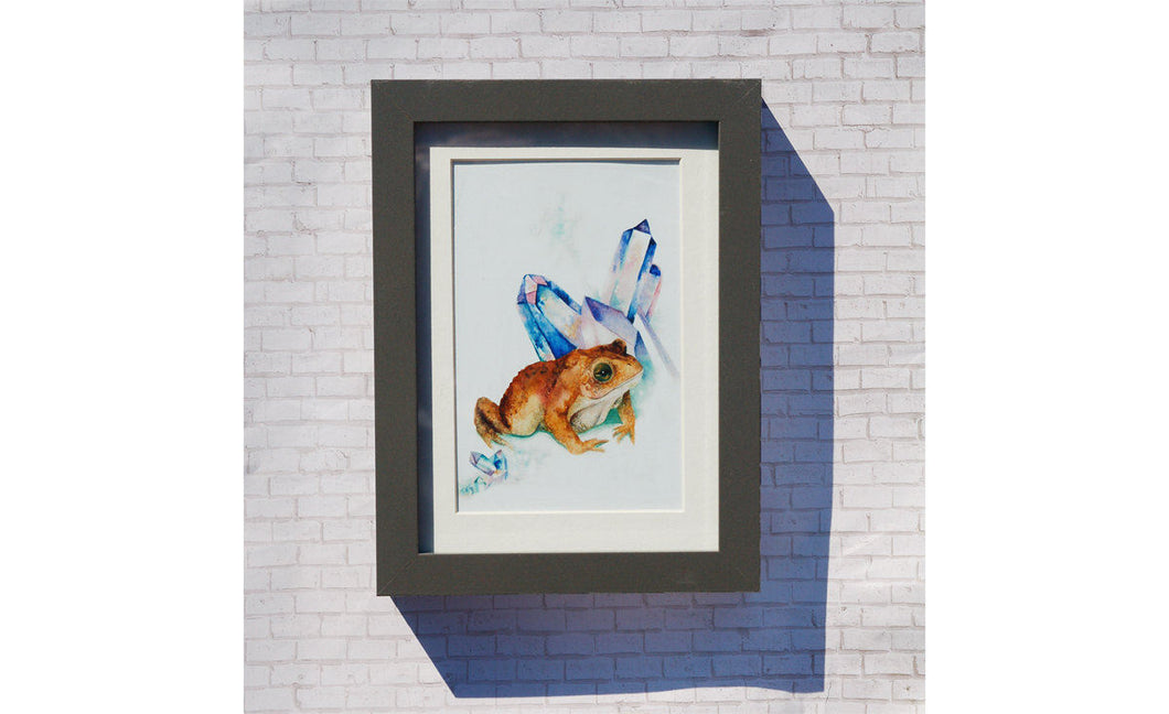 Magical Toad Watercolor Print