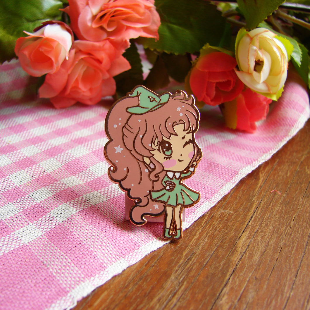 Jupiter Witch Enamel Pin