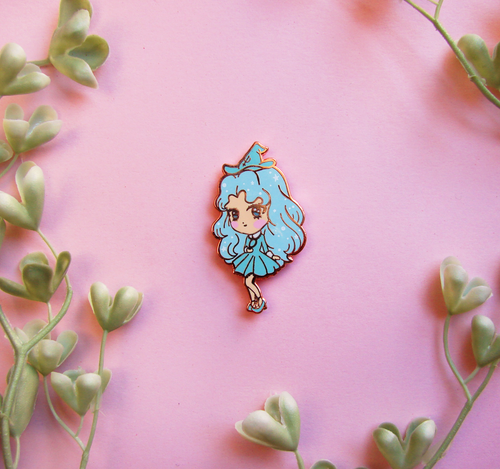 Neptune Witch Enamel Pin