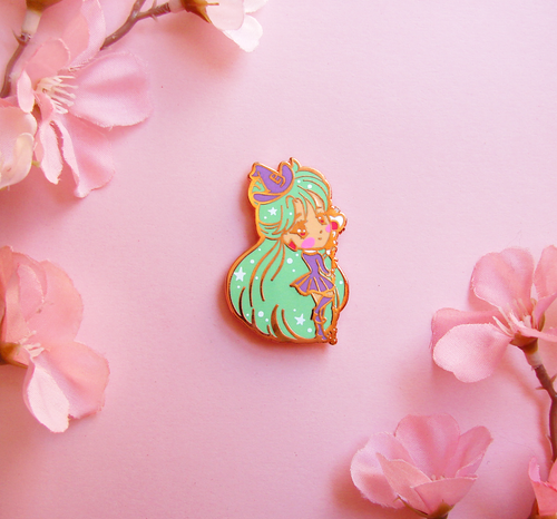 Pluto Witch Enamel Pin