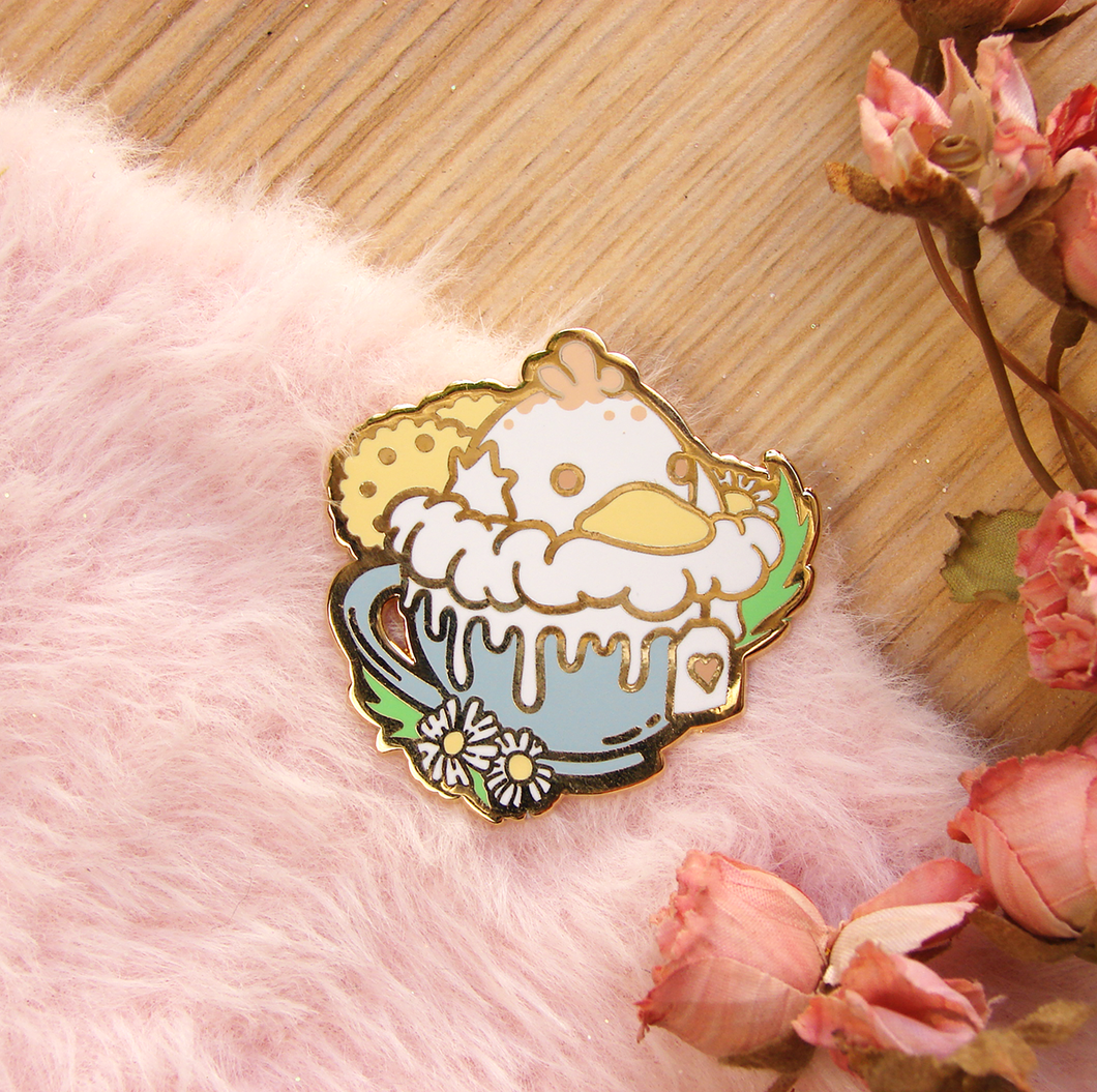 SECONDS Psyduck Latte Enamel Pin