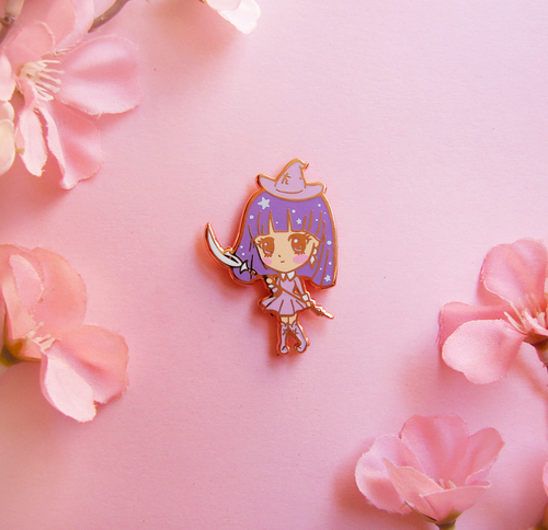 Saturn Witch Enamel Pin