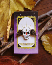 Load image into Gallery viewer, Winged Skull Enamel Pin