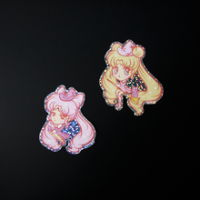 Load image into Gallery viewer, Chibi Moon Witch Vinyl Sticker