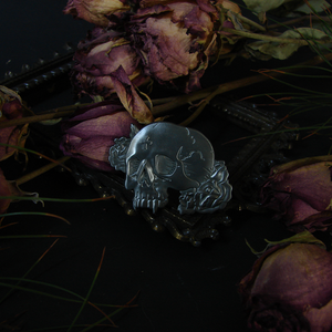 Eternal Slumber Vampire Skull Pin