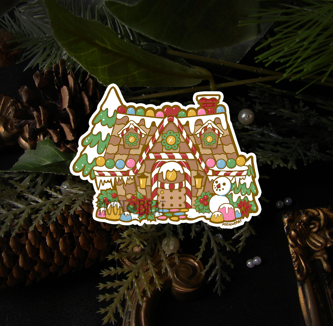 Winter Animal Crossing House Sticker