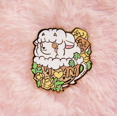 Wooloo Latte Enamel Pin