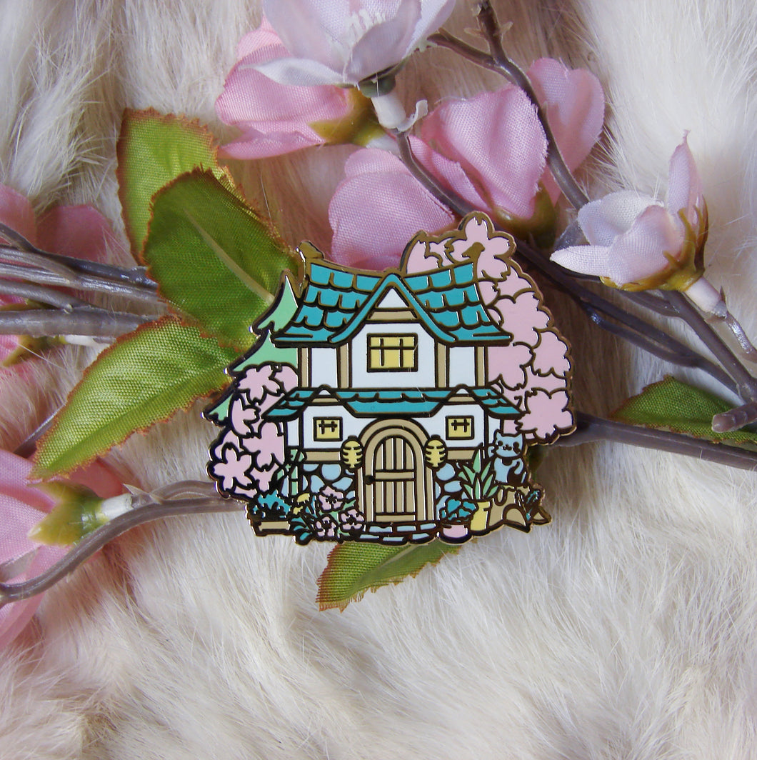 Zen Animal Crossing House Enamel Pin