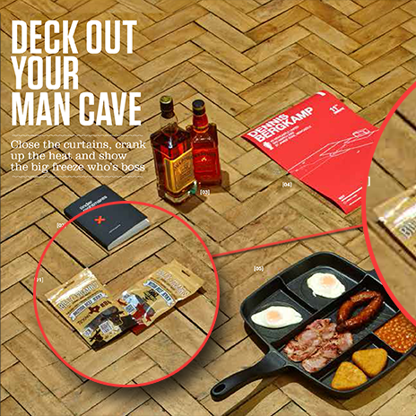 Billy Franks is a man cave must-have according to FHM