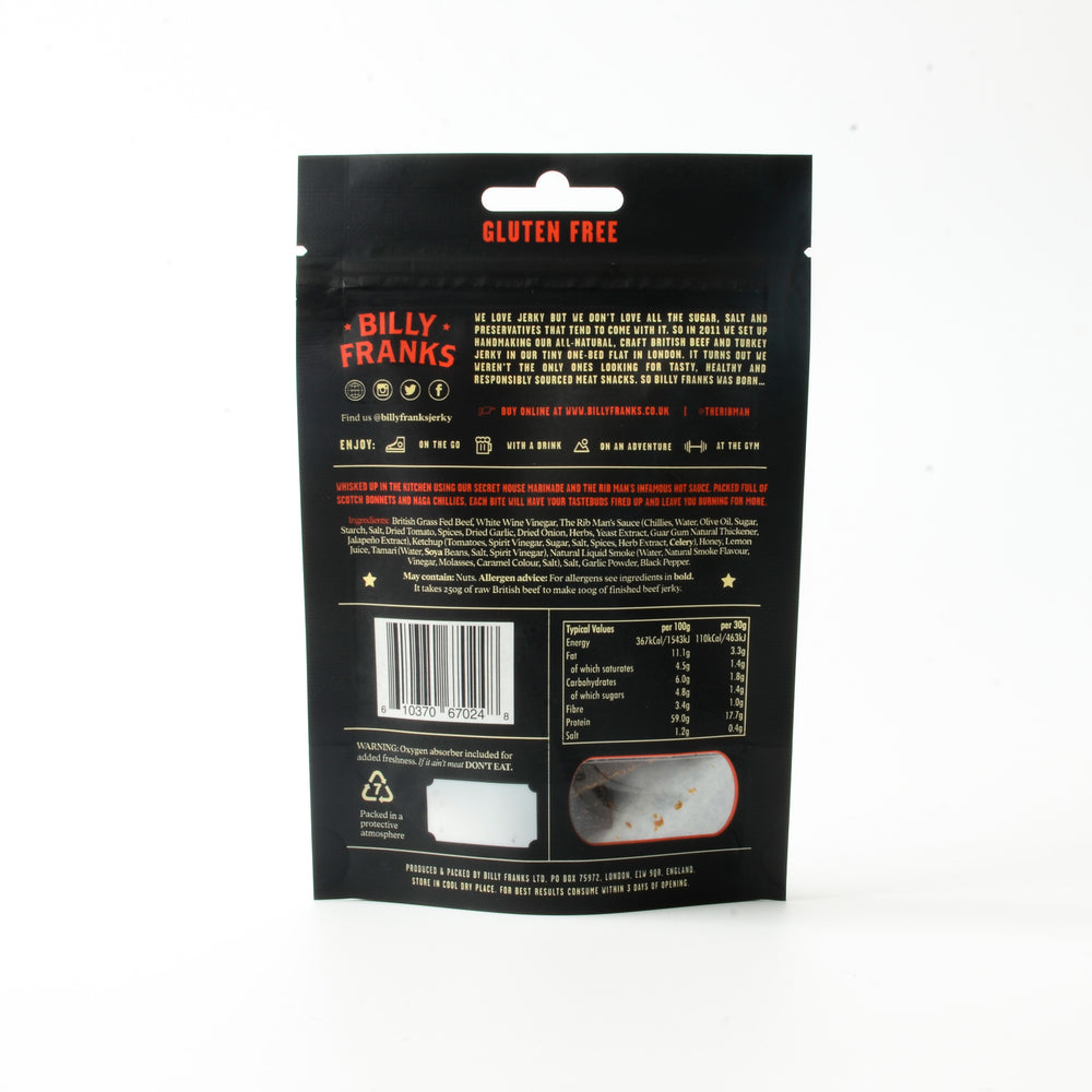 Hot N' Spicy Beef Jerky (30g)