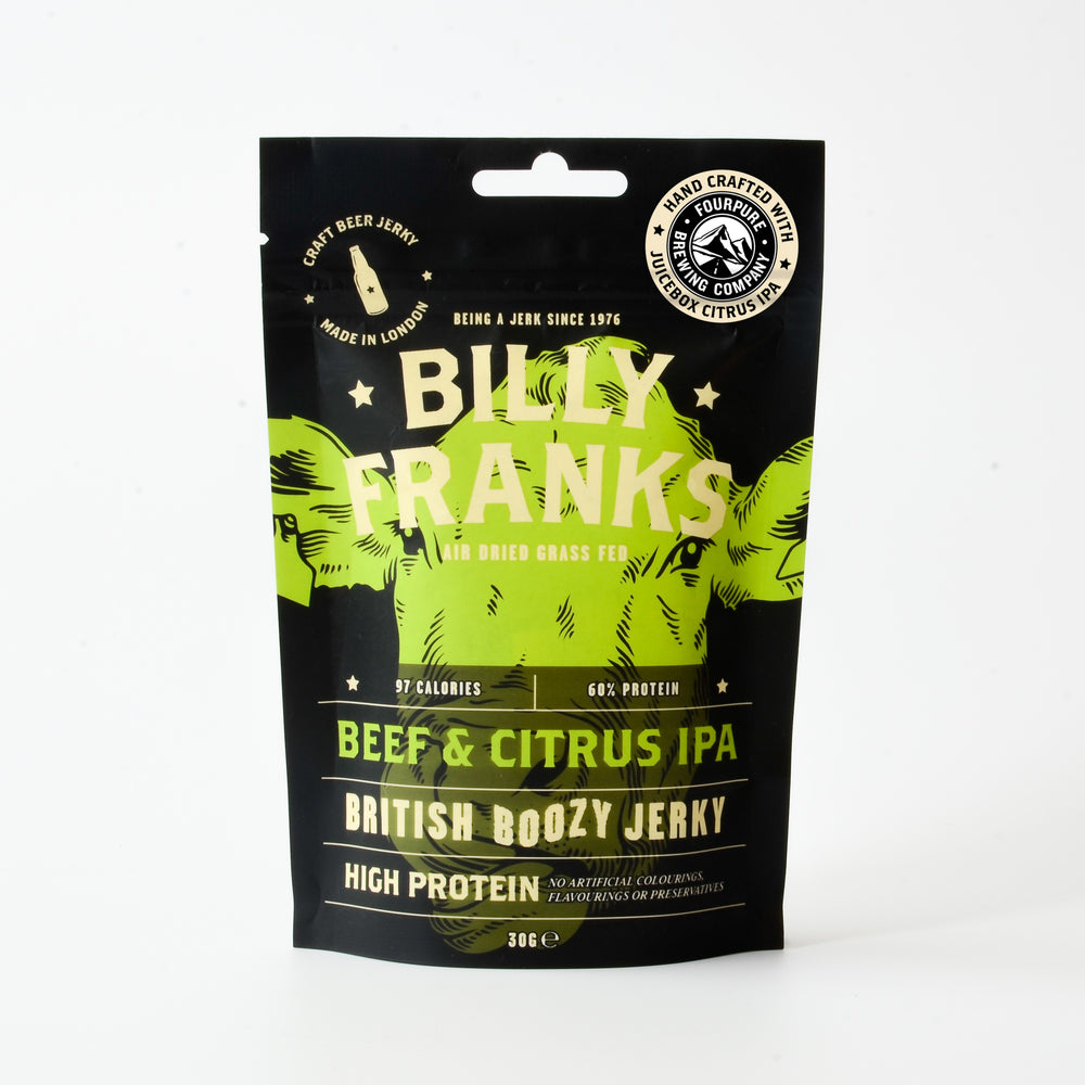 Beef & Citrus IPA Jerky Gift Box | Fourpure Juicebox Citrus IPA