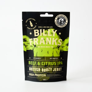 Load image into Gallery viewer, Beef & Citrus IPA Boozy Jerky Gift Box | Fourpure Juicebox Citrus IPA