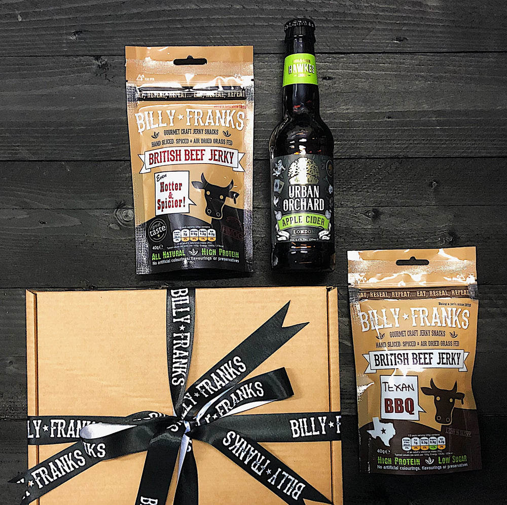 Craft Jerky & Cider Pairing Gift Box | Hawkes Urban Orchard Apple Cider