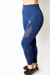 Legacy Legging Blue - BIG Gymwear Ltd