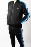 Signature Track Jacket Feat. Blue/White Taping - BIG Gymwear Ltd