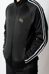 Resistance Track Jacket - Black/White - BIG Gymwear Ltd