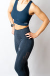 INSPIRE SPORTS BRA - NAVY - BIG Gymwear Ltd