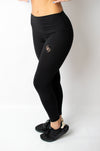 Infusion Legging Black/Gold - BIG Gymwear Ltd