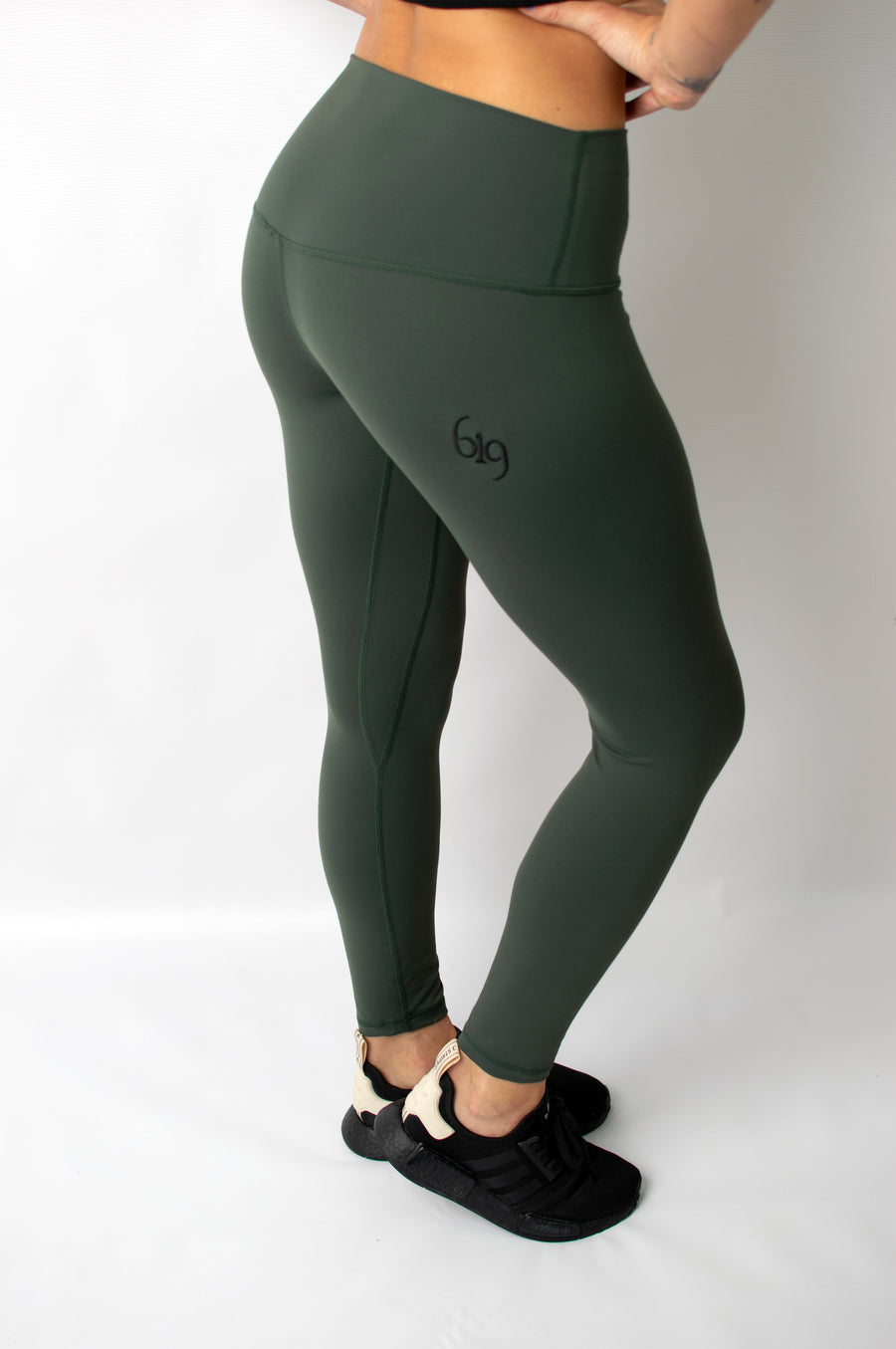 Infusion Legging Khaki Green - BIG Gymwear Ltd