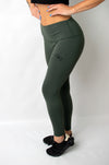 Infusion Legging Khaki Green - gym-usa