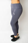 Infusion Legging Purple - BIG Gymwear Ltd