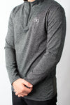 Grey 1/4 Zip Jersey - BIG Gymwear Ltd
