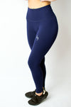 Inspire Legging Blue - BIG Gymwear Ltd