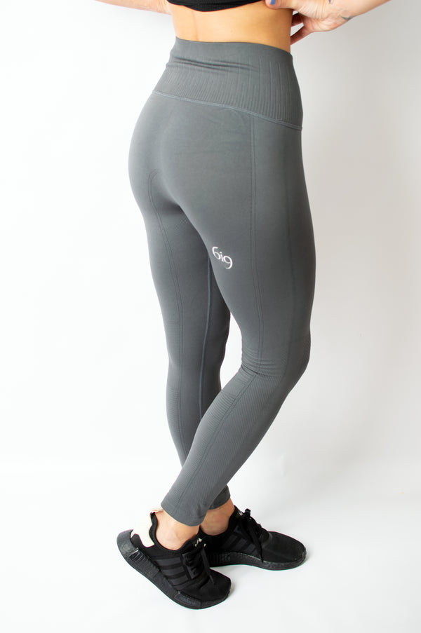 Inspire Legging Grey - BIG Gymwear Ltd
