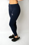 Infusion Legging Navy Blue - BIG Gymwear Ltd