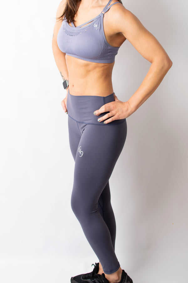 Legacy Crop Top Padded Bra - Blue - BIG Gymwear Ltd