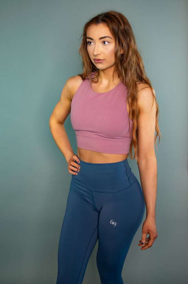 Define Cross Back Sports Bra (Purple) - BIG Gymwear Ltd