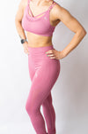 LEGACY CROP TOP PADDED BRA - PINK - BIG Gymwear Ltd