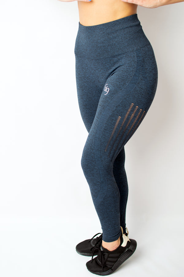 Resistance Legging Blue - BIG Gymwear Ltd