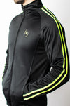 Resistance Track Jacket - Black/Green - gym-usa