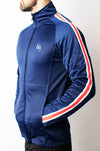 Resistance Track Jacket - Blue/Red - gym-usa