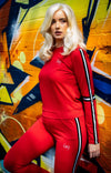 Striped Tracksuit - Red - BIG Gymwear Ltd