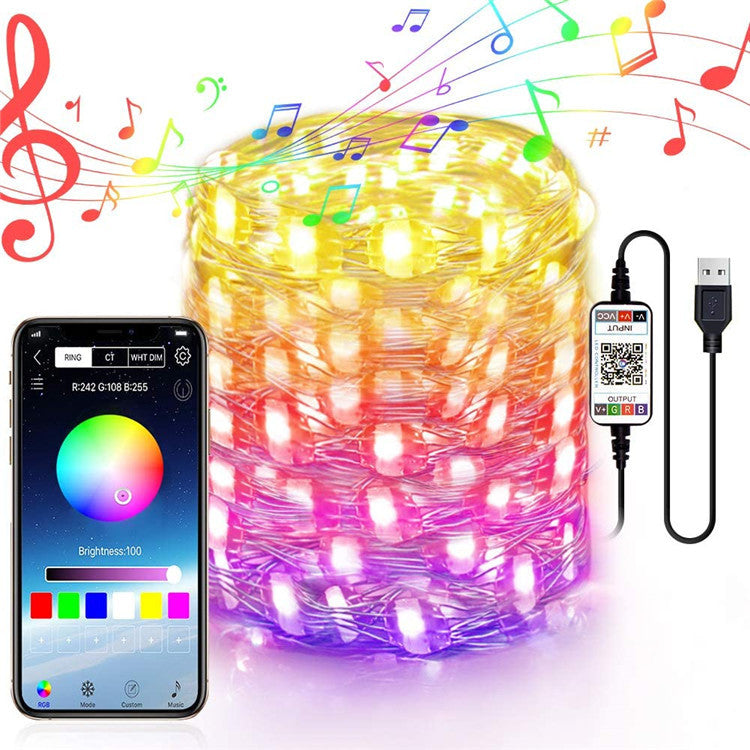 LED String Lights APP Control Music Decoration Light For Christmas