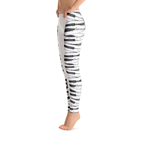 Leggings - Keyboard White