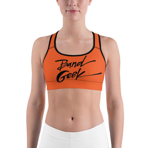 Sports bra - Band Geek Orange