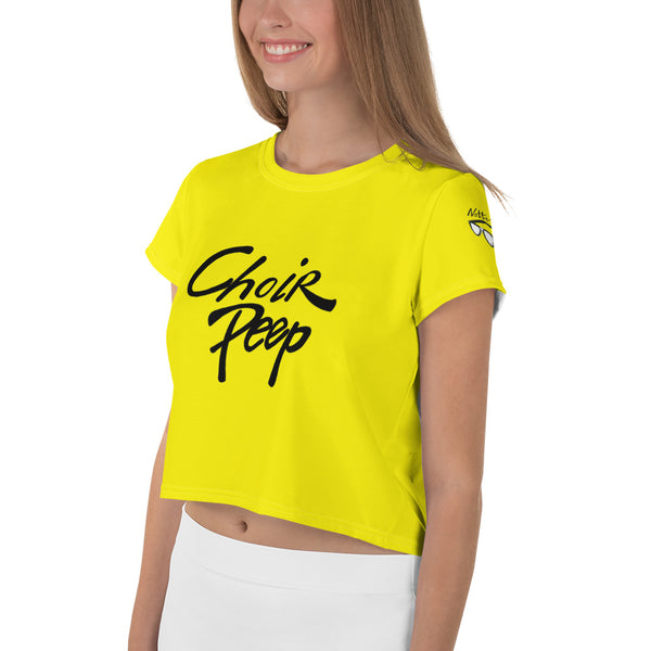 All-Over Print Crop Tee - Choir Peep