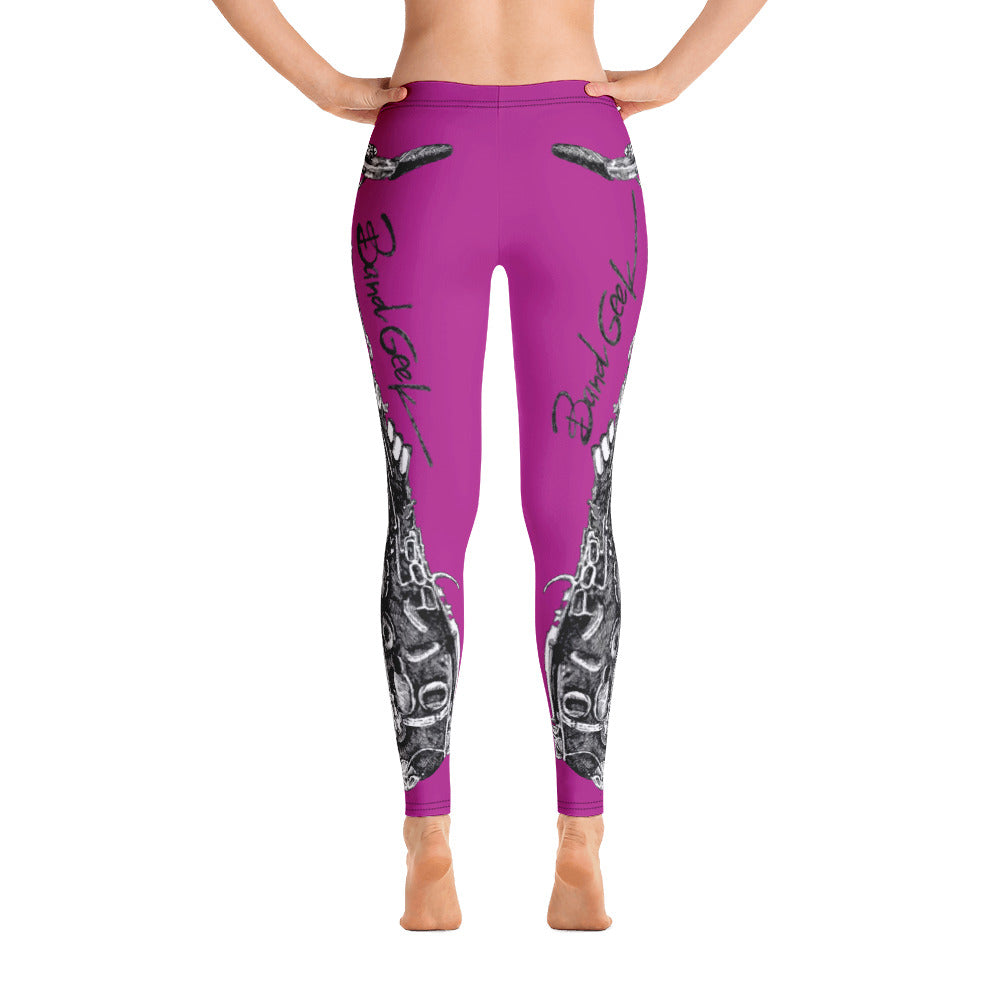 Leggings - Saxophone Berry