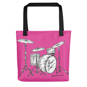 Tote bag - Drum Set Pink