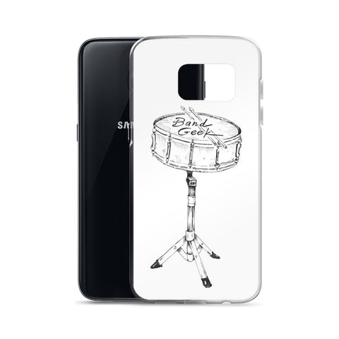 Samsung Case (white background) - Drums