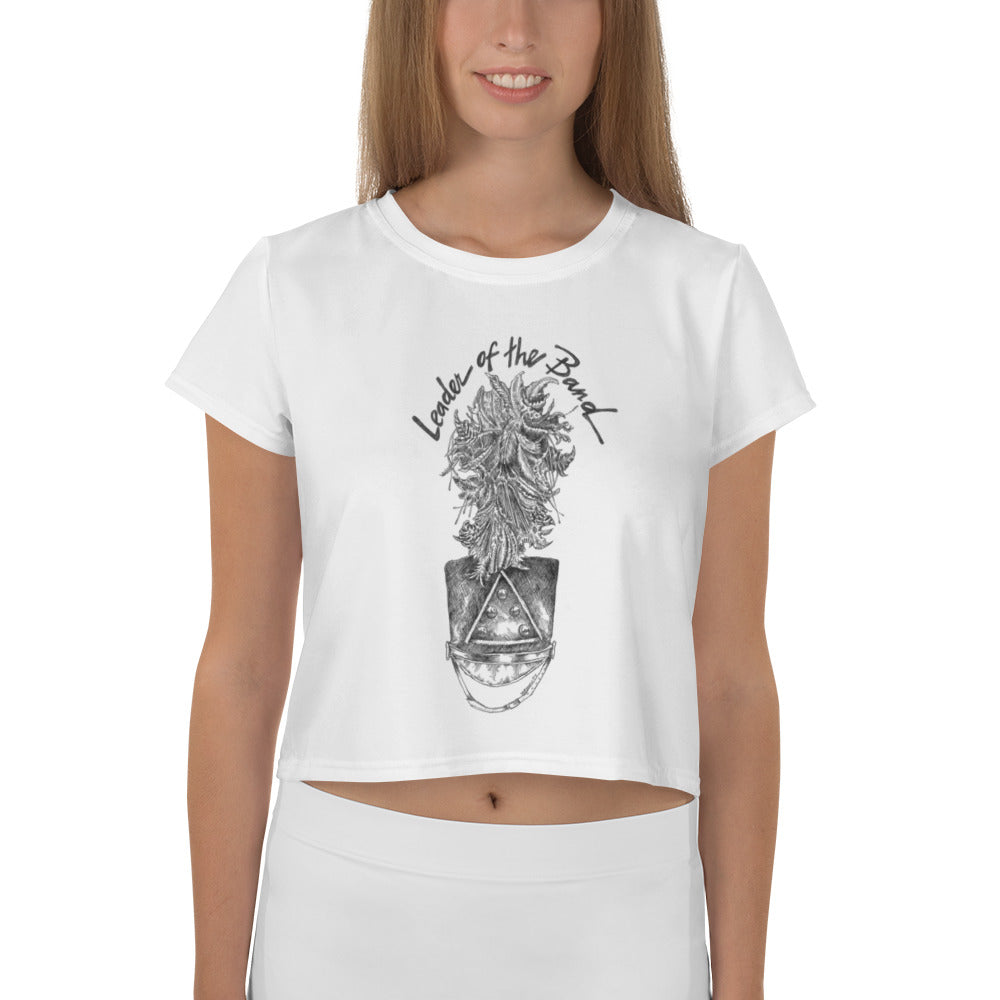All-Over Print Crop Tee - Leader of the Band