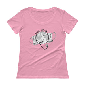 World Defender Ladies' Scoopneck T-Shirt