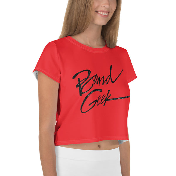 All-Over Print Crop Tee - Band Geek