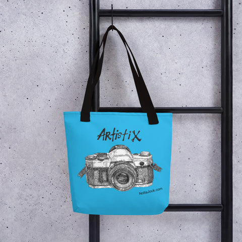 Tote bag - Camera Blue