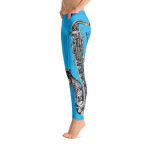 Leggings - Saxophone Blue