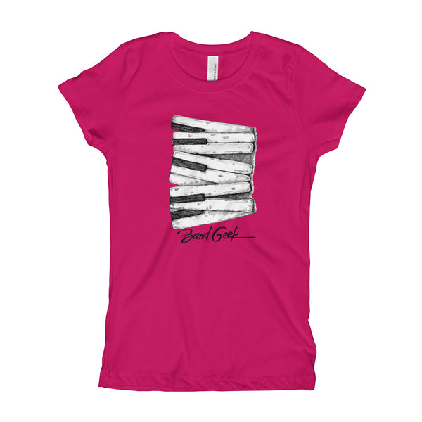 Girl's T-Shirt - Keyboard