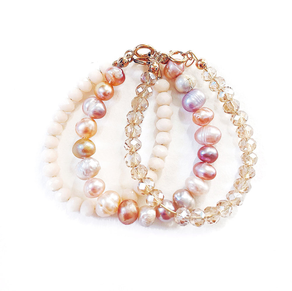 Pearl Rose Stacked Collection